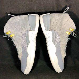 🔥 Jordan 12 Retro Wolf Grey Men's Size 10 👟👟